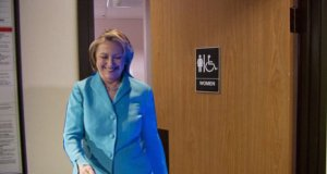 Hillary Clinton immediately after playing the Gender Card