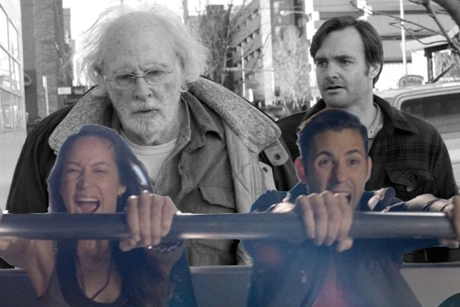 This image released by Paramount Pictures shows Bruce Dern as Woody Grant, left, and Will Forte as David Grant in a scene from the film