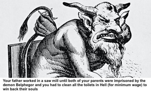 Belphegor, one of the seven princes of hell
